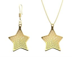 Earring and Necklace star Type 1 3D Model