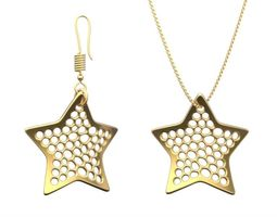 earring and necklace star type 2 3d print model