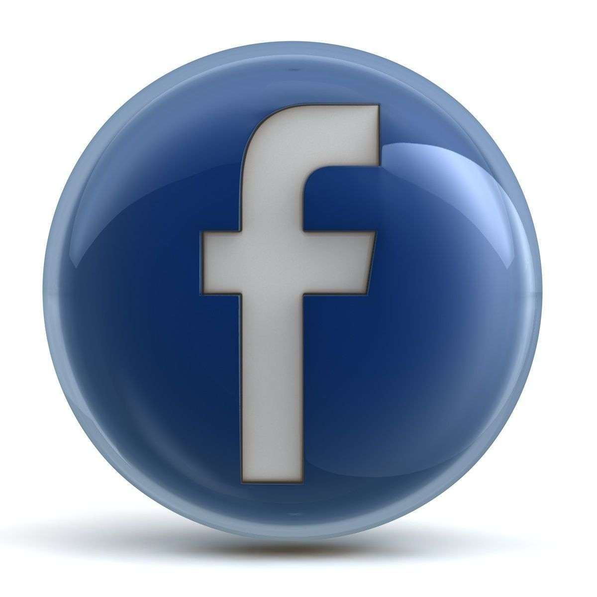 facebook icon 3d model obj 3ds fbx c4d cgtradercom