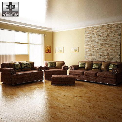 lovely living room 3d model | Ashley Living Room Ralston 3D model | CGTrader