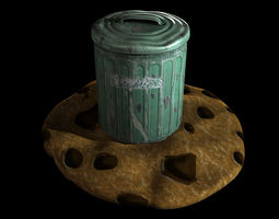 3d asset biscuit tin game-ready