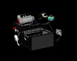 GM Flexpower Engine 3D model