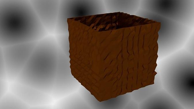 brick box vase 3d model  1