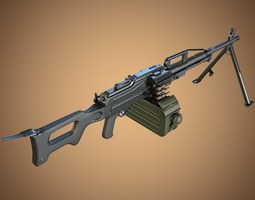3D model PKP Pecheneg Machine Gun