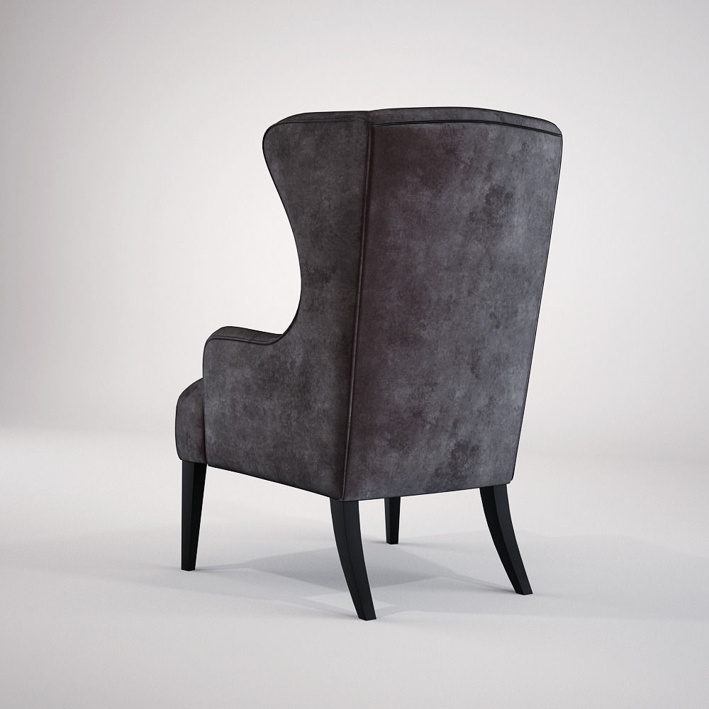 Baker simply baker wing chair 3d model max fbx for Chair 6 mt baker