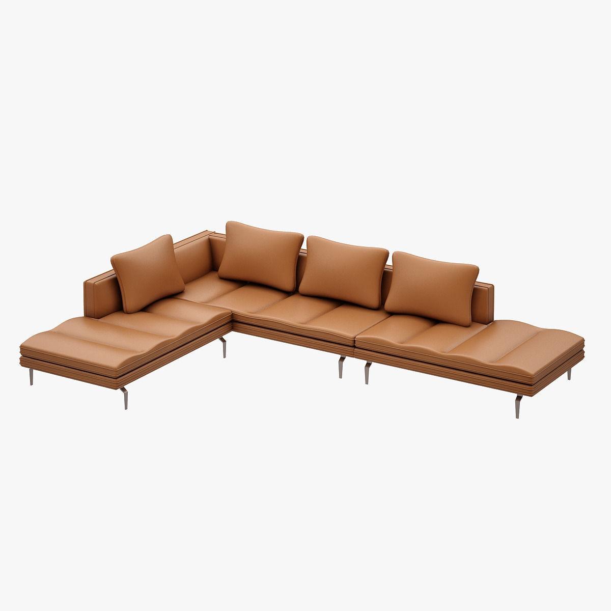 3D Bruce Sofa Set ZANOTTA   CGTrader