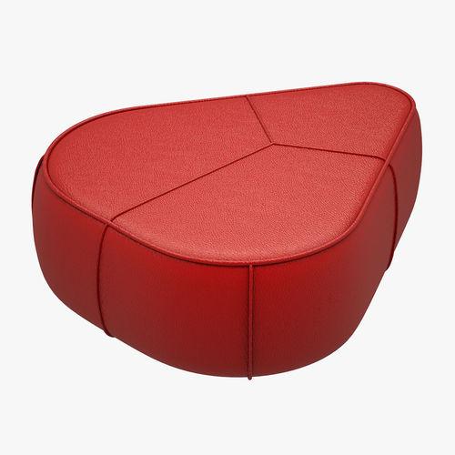 3d model bermuda pouf boconcept vr ar low poly max obj fbx mtl. Black Bedroom Furniture Sets. Home Design Ideas