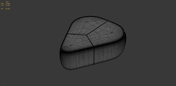 3d model bermuda pouf boconcept vr ar low poly max obj. Black Bedroom Furniture Sets. Home Design Ideas