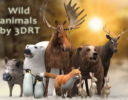 3DRT - Wild Animals 3D Model