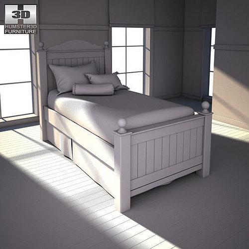 3D model Ashley Jaidyn Poster Bedroom Set | CGTrader