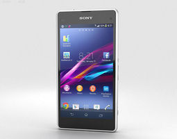 3D Sony Xperia Z1 Compact White