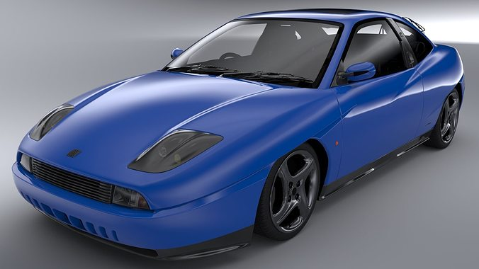 fiat coupe 20v turbo 2000 3d model cgtrader. Black Bedroom Furniture Sets. Home Design Ideas