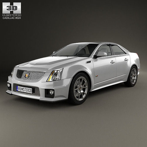 Cts Cadillac Sedan: 3D Cadillac CTS-V Sedan 2009