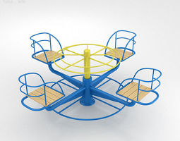 3d model playground merry go round 002