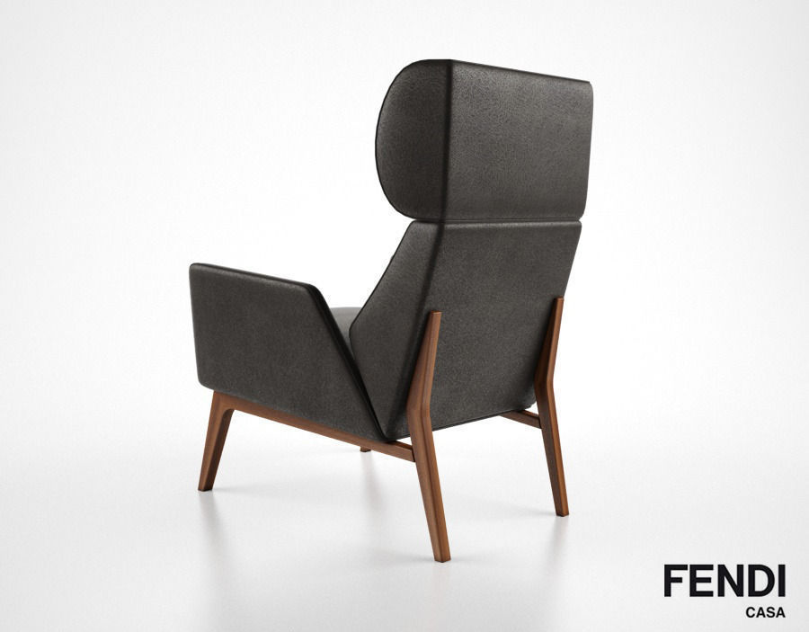 Fendi Casa Hermann armchair 3D Model OBJ MTL