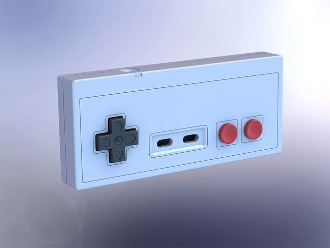 Printable Nintendo NES controller | CGTrader