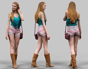 3D model Summer Girl Walking