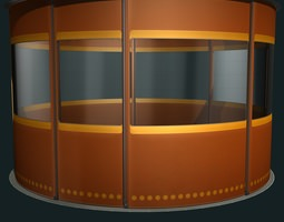 3d model temporary isolation cell animated