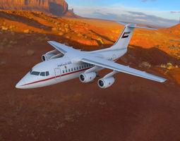 Avro RJ70 3D asset