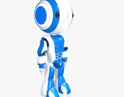 rigged 3d model robot ao maru