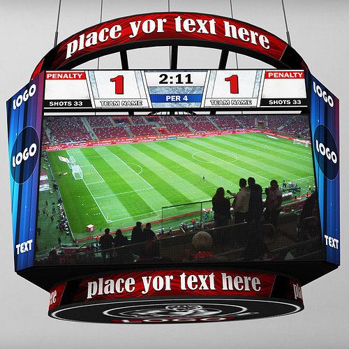 jumbotron scoreboard hexagon 3d model max obj mtl 3ds fbx 1
