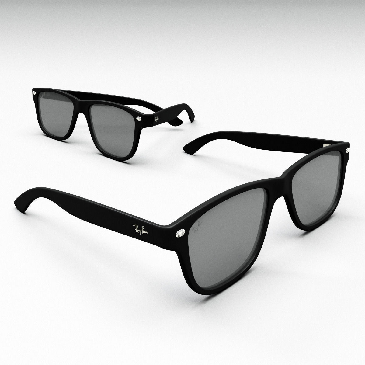 ray ban models 3hqq  ray ban glasses 3d model obj mtl 3