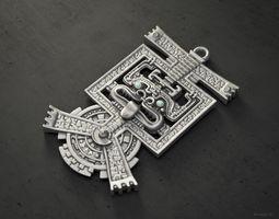 Aztec pendant HQ version 3D print model