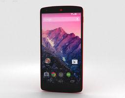 lg nexus 5 red 3d model max obj 3ds fbx c4d lwo lw lws