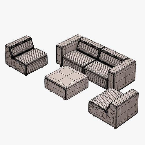 Carmo Sofa Set Boconcept 3d Model Max Obj Fbx Mtl 12