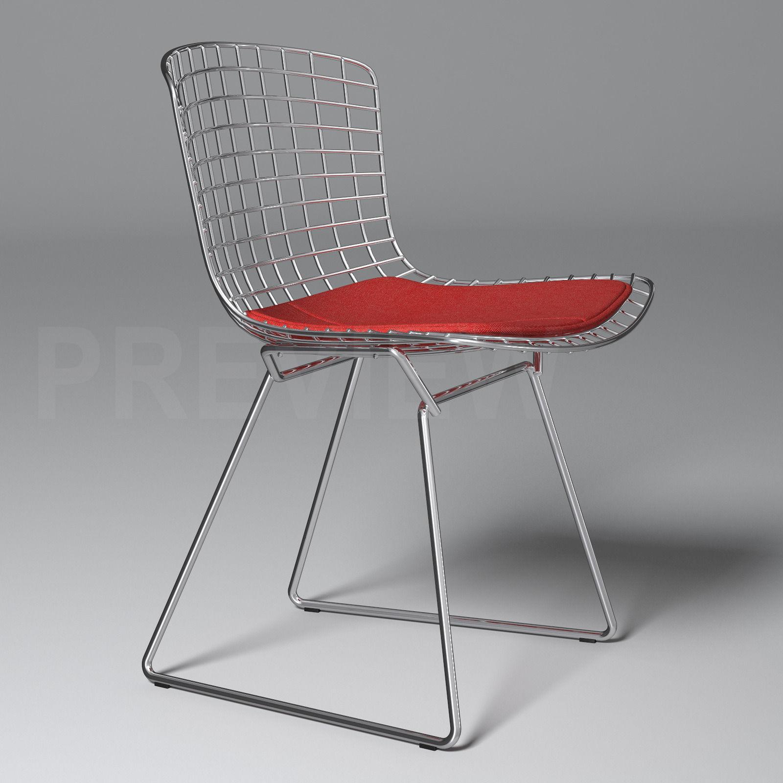 Bertoia chair knoll -  Bertoia Side Chair Knoll 3d Model Max Obj Fbx 4
