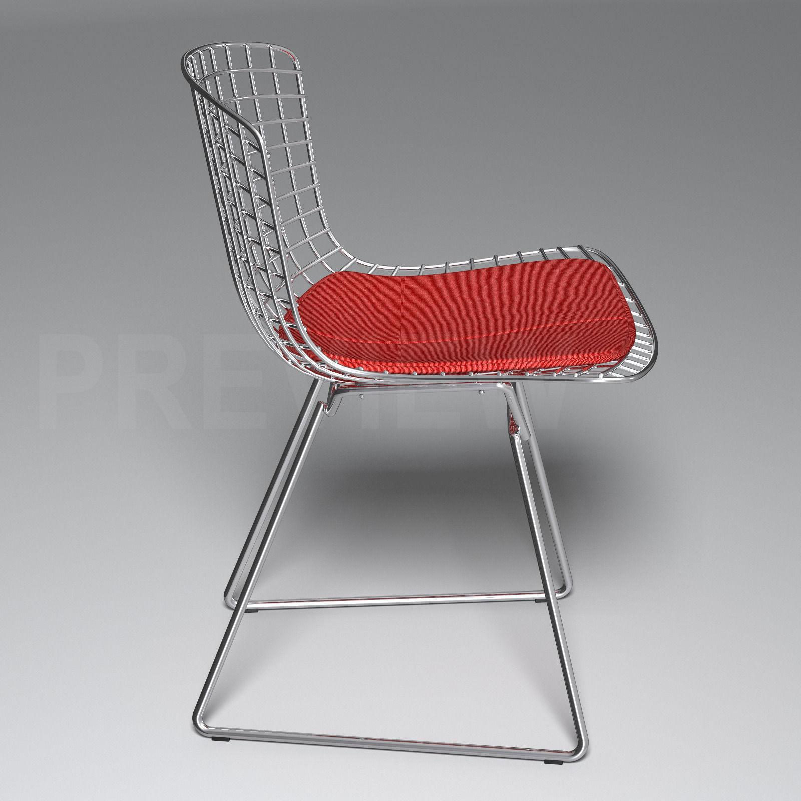 Bertoia side chair knoll 3d model max obj fbx cgtrader com