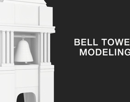 3d model low-poly bell tower