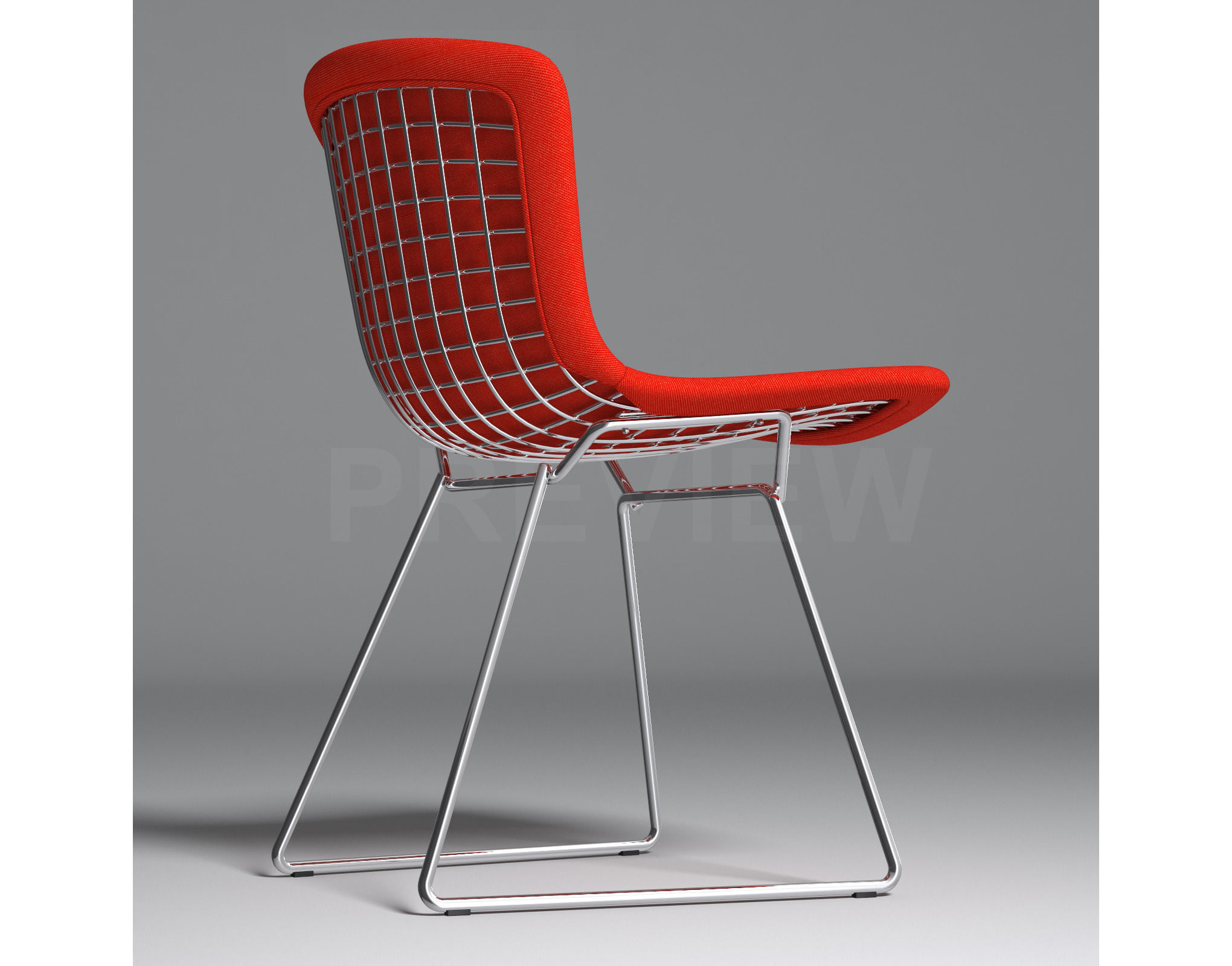 Bertoia Side Chair With Full Cover Knoll 3D Model MAX OBJ FBX