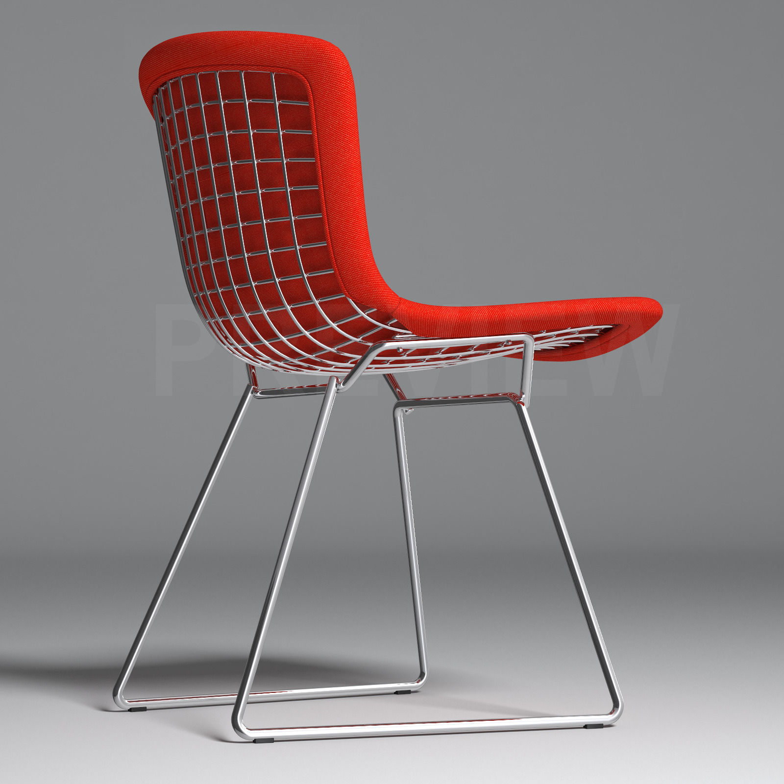 Admirable Bertoia Side Chair With Full Cover Knoll 3D Model Gmtry Best Dining Table And Chair Ideas Images Gmtryco