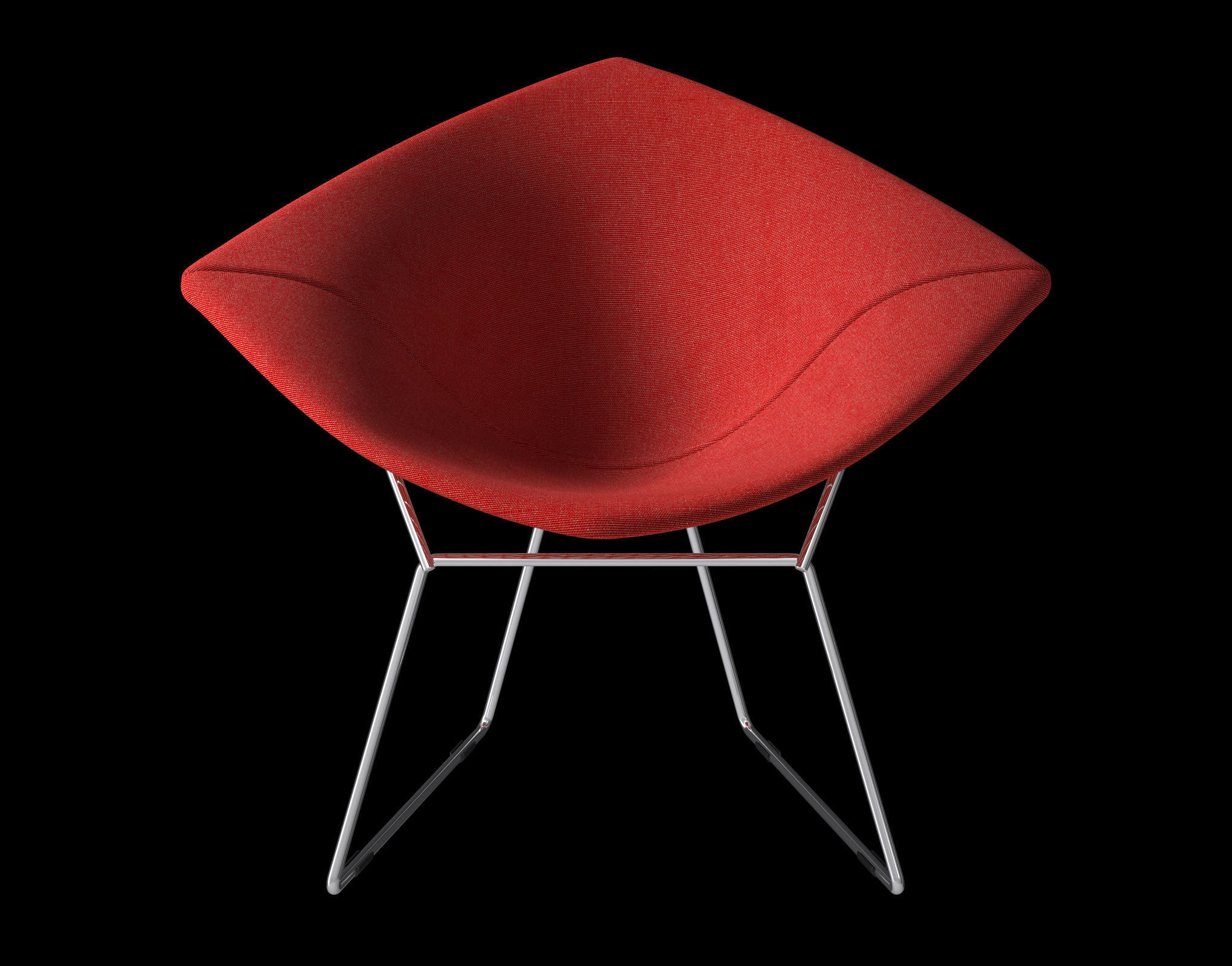 Bertoia Diamond Armchair with Full Cover Knoll 3D model MAX OBJ FBX