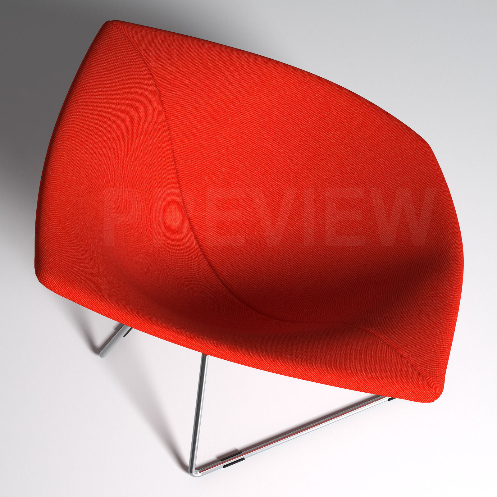 ... Bertoia Diamond Armchair With Full Cover   Knoll 3d Model Max Obj Fbx 9  ...
