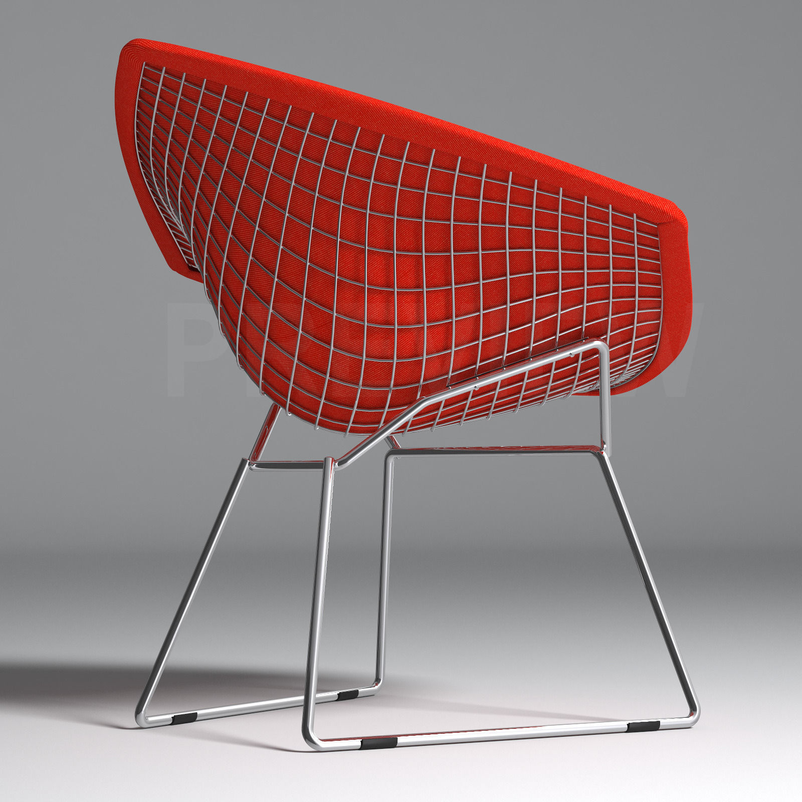 ... Bertoia Diamond Armchair With Full Cover   Knoll 3d Model Max Obj Fbx 3  ...