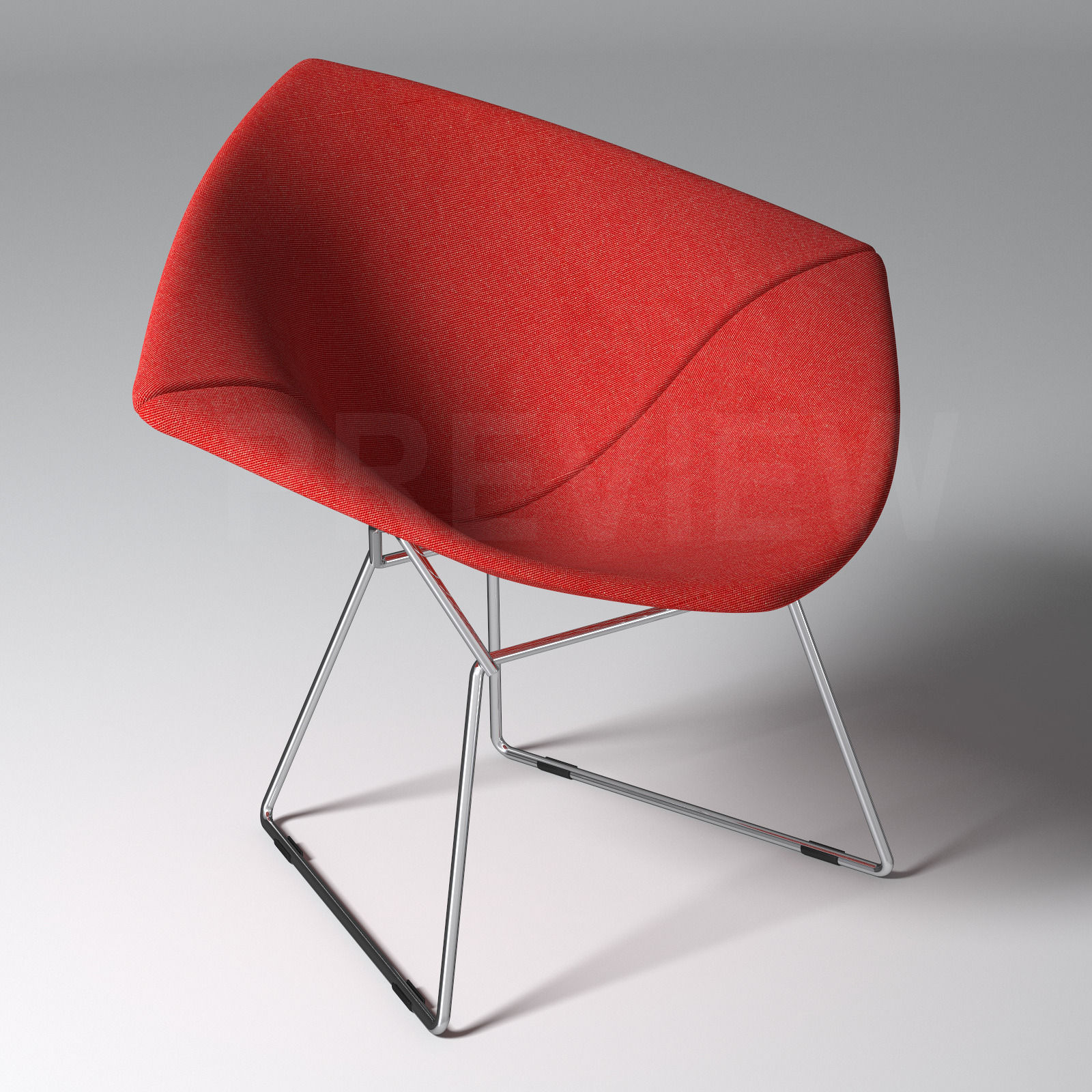 Bertoia Diamond Armchair With Full Cover   Knoll 3d Model Max Obj Fbx 1 ...