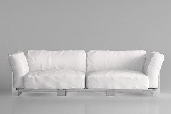 ... Kartell Pop Duo Sofa 3d Model Max Obj Mtl 2 ...