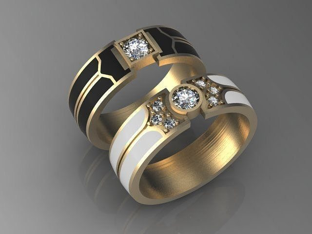 party image black rhinestone classic enamel gift fashion products gold jewelry rings product men ring sellsets color male for wedding christmas