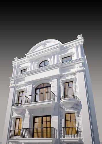 Classic House 01 3d Model Max 4