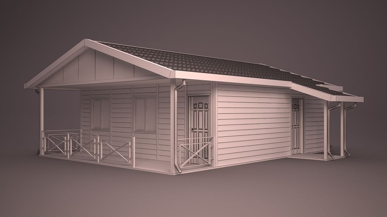 Home 25 3d model max obj 3ds fbx ma mb dwg for Home 3d model