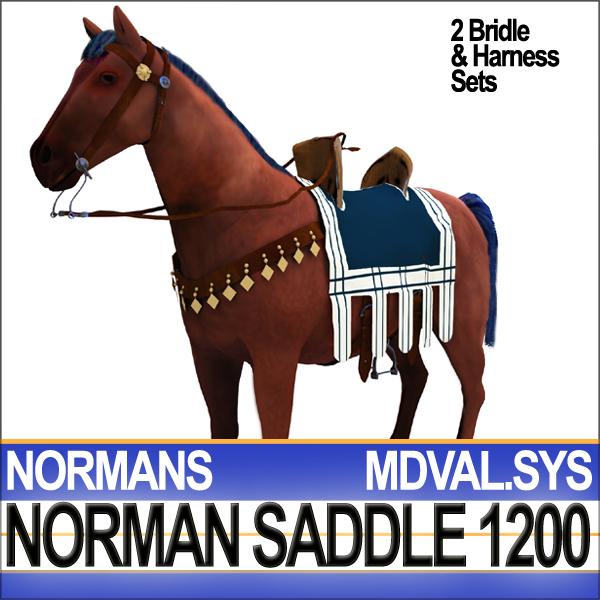 Saddle Medieval Norman Bridle Harness 1200