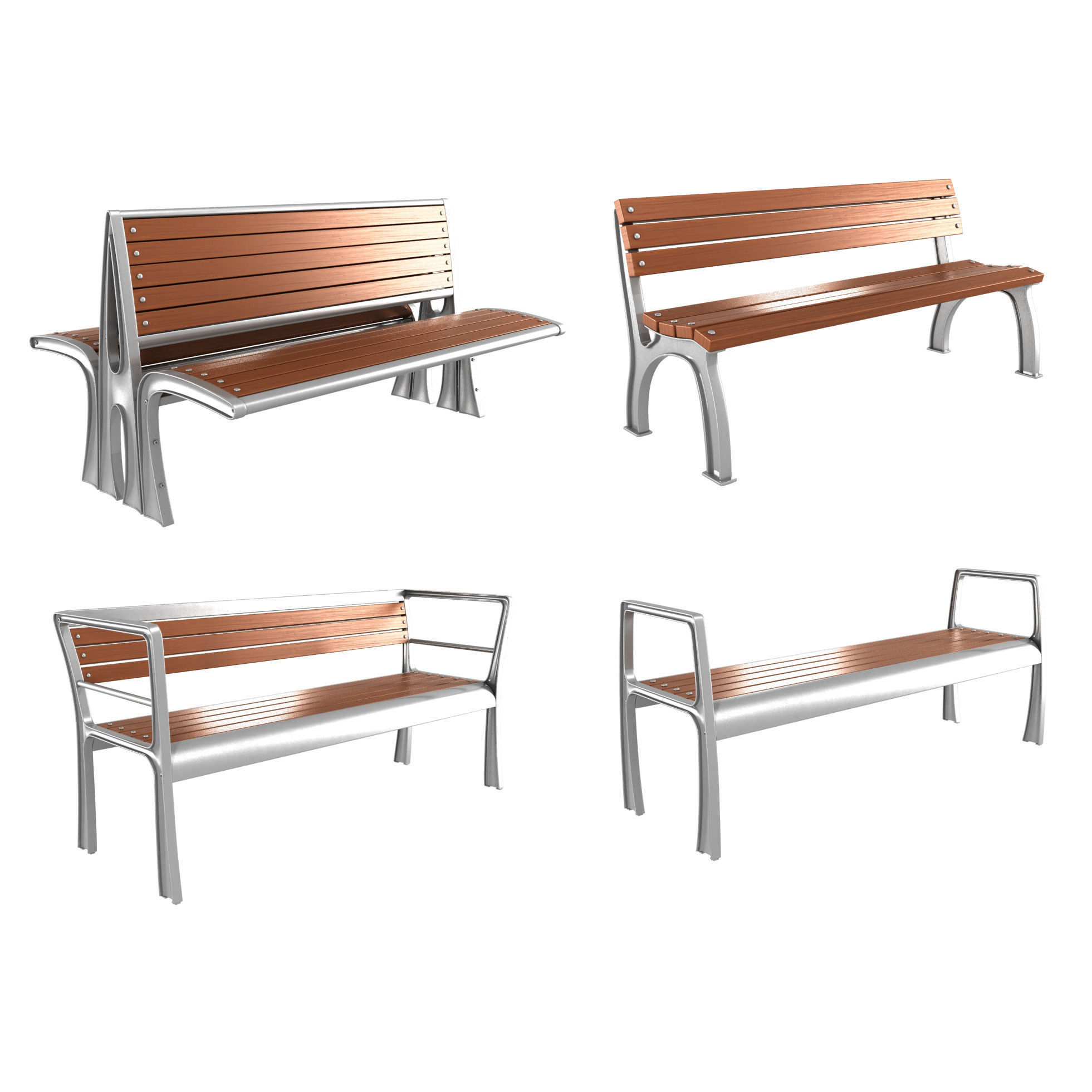 Modern Bench Collection 4