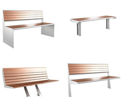 3D Modern Bench pack 3