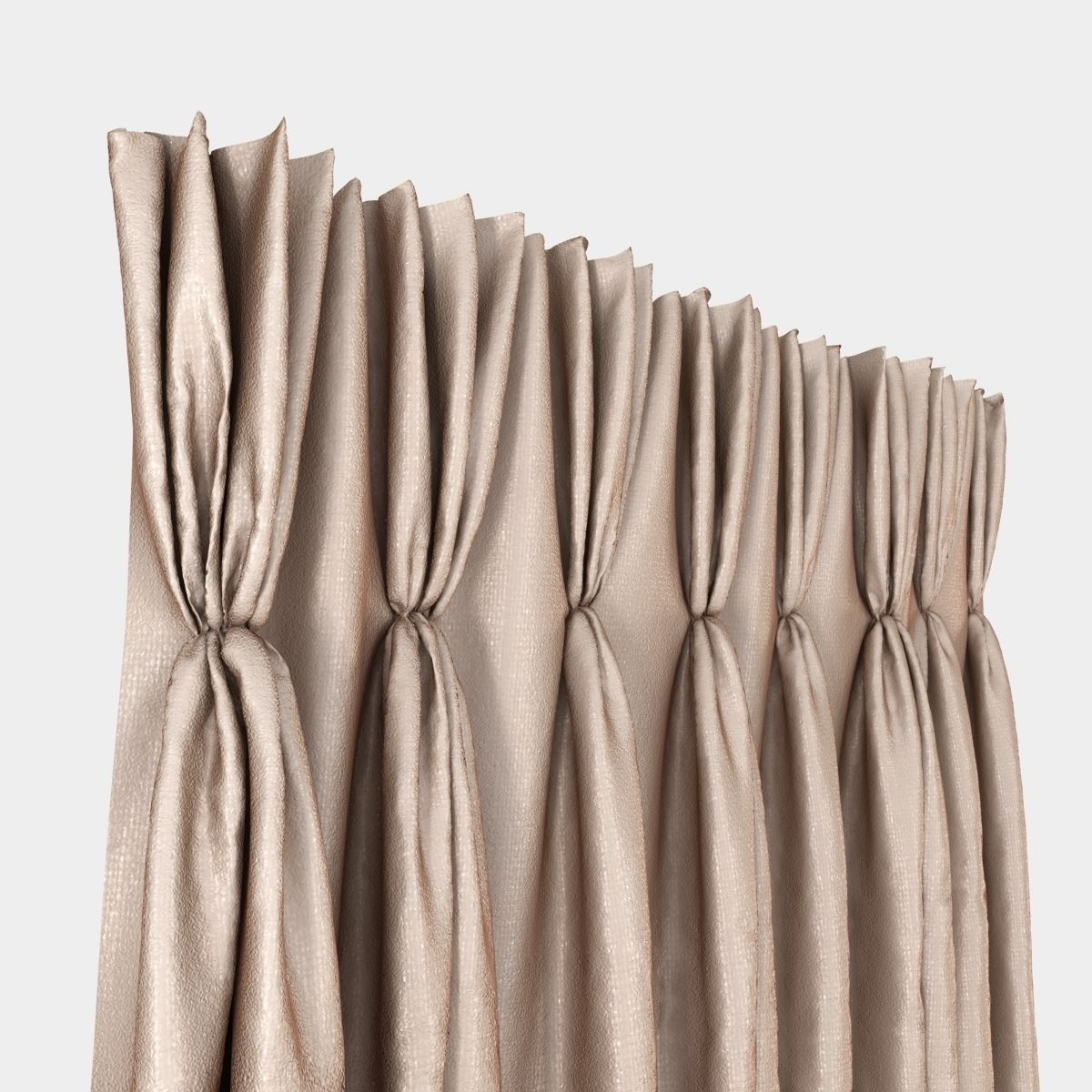 3D Pinch Pleat Curtain | CGTrader