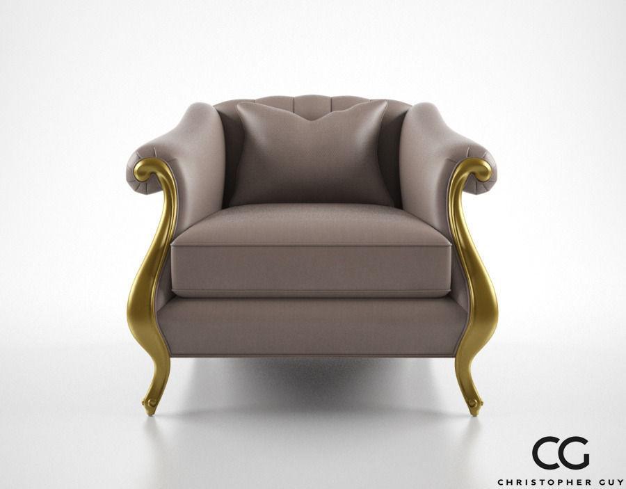 Superb Christopher Guy Babette Club Chair 3d Model Max Obj 3ds Fbx Mtl 1 ...