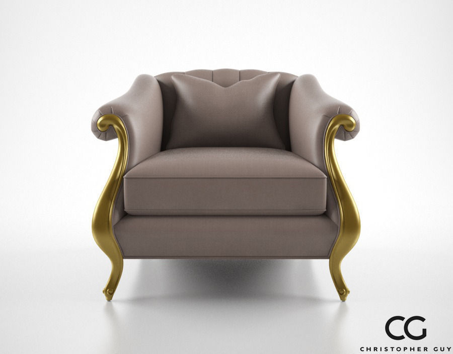 Christopher Guy Babette Club Chair 3D Model MAX OBJ FBX ...