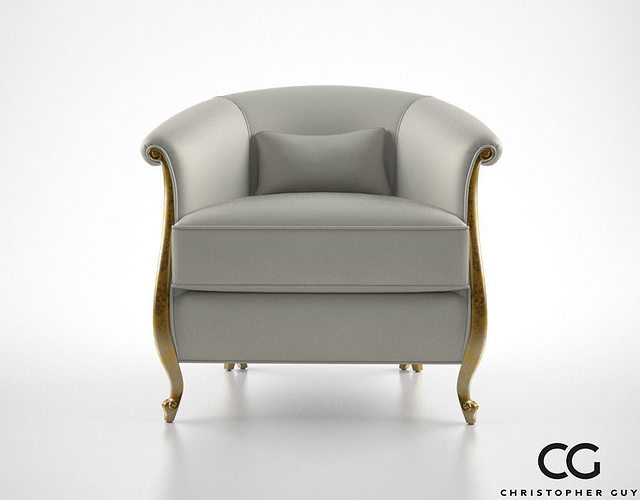 3d Christopher Guy Greta Armchair Cgtrader