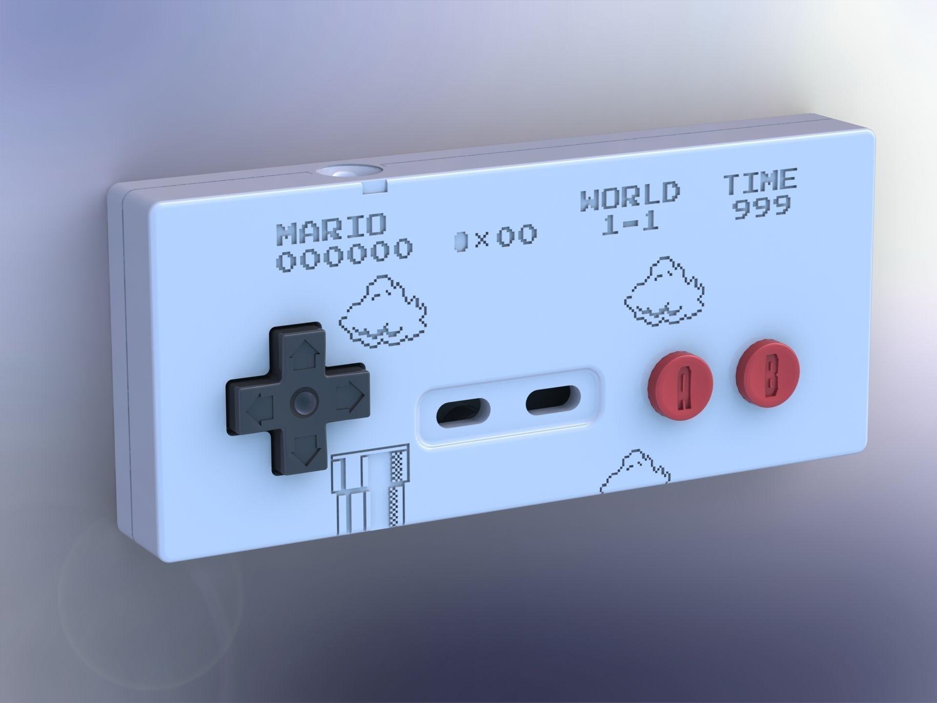 Printable Super Mario 8 Bit Style Nes Cont 3d Model 3d